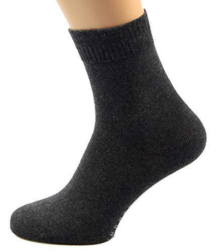 Max Lindner 5 Paar Diabetikersocken (Socken ohne Gummi) 95prozent Baumwolle 5prozent Elasthan (39-41, grau)