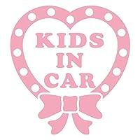 imoninn KIDS in car ステッカー 【パッケージ版】 No.09 ハートリボン (ピンク色)