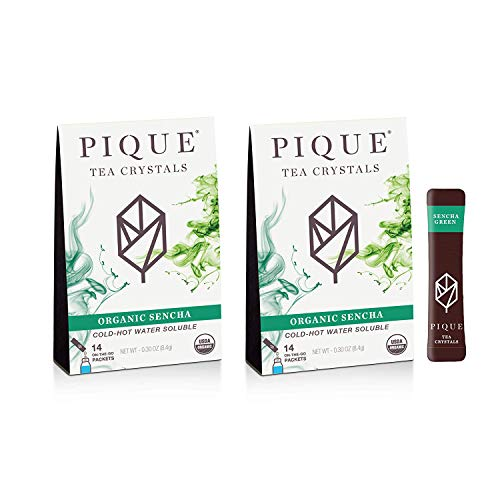 Pique Tea Organic Sencha Japanese Green Tea Crystals - Immune Support, Energy, Healthy Metabolism -...