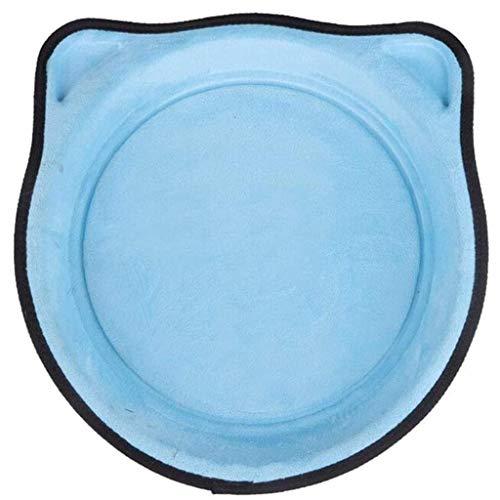 LLKJT Cama Montada en La Ventana del Gato de La Hamaca de La Ventana del Gato Disponible en Todas Las Estaciones con Ventosas Resistentes,Azul