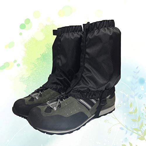 VORCOOL 1 Paar Schnee Gamaschen Leichte Wasserdichte Knöchel Gamaschen für Outdoor Wandern Klettern (Schwarz) - 4