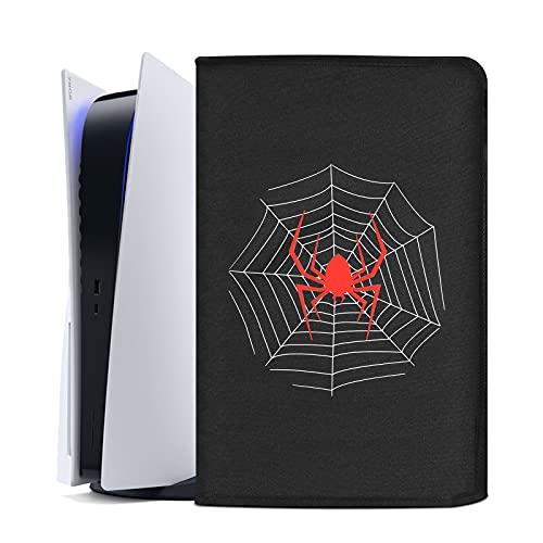 Funda Antipolvo para PS5,Funda Protectora para Sony Playstation 5,Antiarañazos Impermeable a Prueba de Polvo,Accesorios PS5 (Araña Negra)