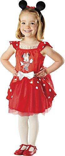 Rubie's 883268-M Costume de Minnie Mouse ballerine fourni dans une boîte en forme de cœur avec des accessoires T