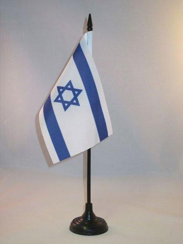 AZ FLAG Bandera de Mesa de Israel 15x10cm - BANDERINA de DESPACHO ISRAELÍ 10 x 15 cm
