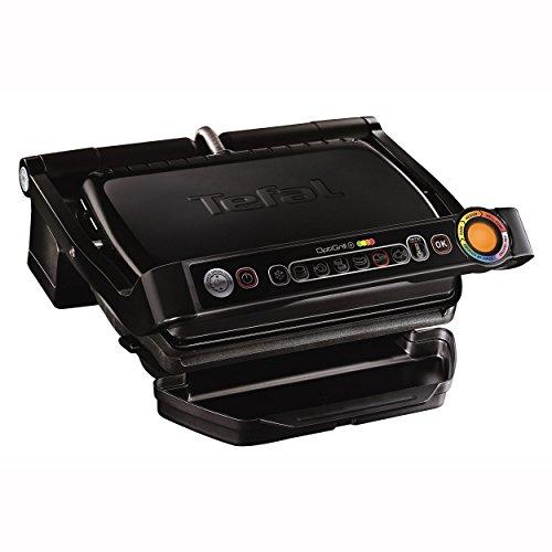 Tefal OptiGrill+ Snacking und Baking GC7148 Kontaktgrill (2.000 Watt, automatische Anzeige des Garzustands, 6 voreingestellte Programme, inkl. Snacking-Aufsatz für Pizze, Lasagne, Kuchen etc.) schwarz