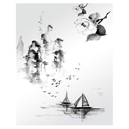 Chinesische Art Tinte Malerei Kunst handgemalte Tinte Kunst Design dekorative Tapete