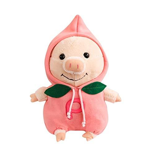 Zzx Peluche muñeca figurina juguete mascota almohada animal, cochinillo rojo cerdo cerdo figurilla peluche juguete divertido apaciguador muñeca creativo regalo doll dormir poca muñeca dale un regalo d