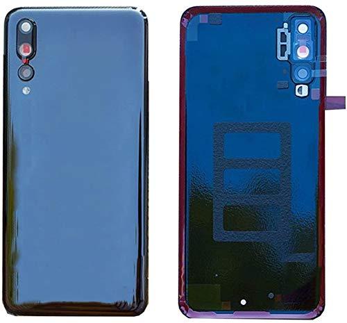 kit 3 pezzi Copri Batteria + Lente + Biadesivo compatibile per Huawei P20 PRO CLT-L09C CLT-L29 CLT-L29C Ricambio Vetro Posteriore Back REAR Cover Retro Scocca + adesivo + lente obbiettivo CAMERA (Blu)