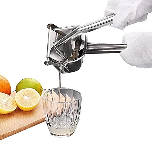 Hojaw Obst Handpresse Manuelle Hand Entsafter Edelstahl Tragbare Saftpresse Zitruspresse Fruchtsaftpresse Orangenpresse Fruchtpresse Zitronenpresse Limettenpresse