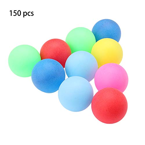 Lowest Price! Wangcai 150 Pcs/Pack Colored Ping Pong Balls 40mm 2.4g PP Plastic Entertainment Table ...