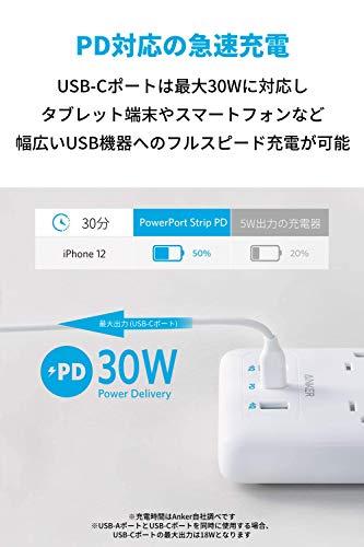 41s 2T6 9RL-「Anker PowerPort Strip PD 6 (USBポート付き電源タップ)」をレビュー。海外製品を使うときにも便利な1台