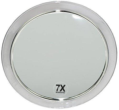 Runder Kosmetex Kosmetik-Spiegel Ø15cm mit verschiedenen Vergrößerung und Saugnäpfen, 7-fach