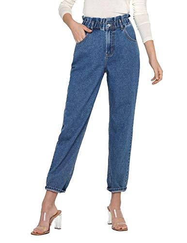 ONLY Damen ONLOVA Life HW Carrot AK DNM MAE784 NOOS Jeans, Medium Blue Denim, S/32