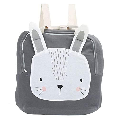 Mochila de bebé de gran capacidad para niños de 2 a 5 años y niñas(rabbit)