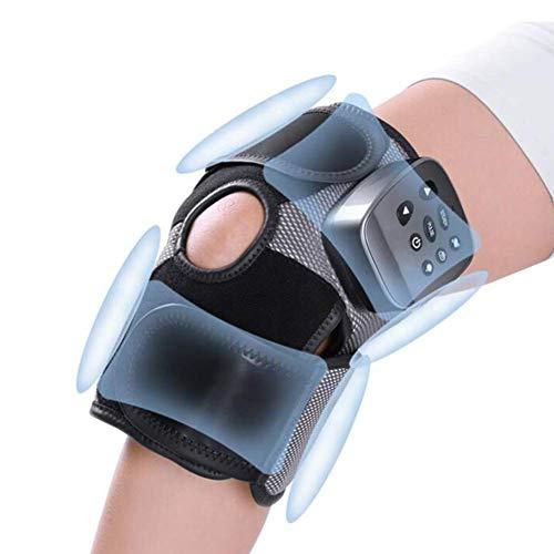Masajeador de rodilla con calefacción, rodillera eléctrica recargable con terapia de masaje de calor y...