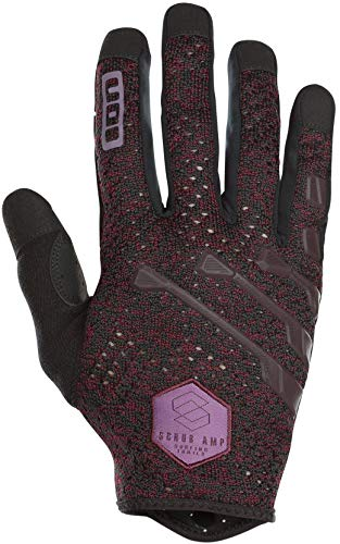 Ion Scrub Amp MX DH FR Fahrrad Handschuhe lang Bordeaux rot/schwarz 2019: Größe: L