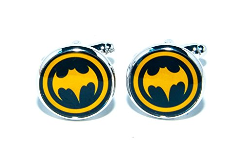Jeff Jeffers Customs Batman DC Super HÉROS Rond Hommes Mariage Argent Bouton DE Manchette Cuff Links, avec Sac Cadeau