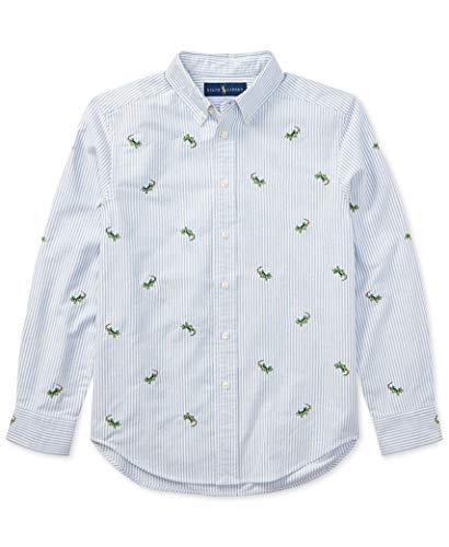 Ralph Lauren Poloshirt für Jungen, bestickt, gestreift, Oxford - mehrfarbig - Groß
