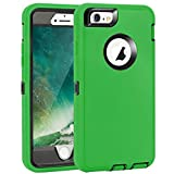 Compatible for iPhone 6/6s Heavy Duty Shockproof Case for iPhone 6/6S (4.7') with Built-in Screen Protector - Green/Black