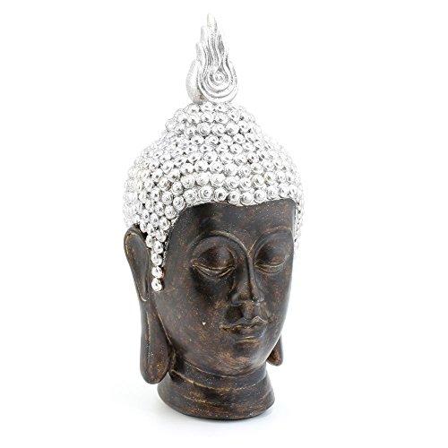 Lesser & Pavey Exotique Art Tête de Bouddha Ornement, Doré, Medium