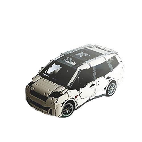 HLGQ 3661 PCS Bloque De Construcción 7 Plazas MPV Family Car, Technic Super Racing RC Coche Kit, Modelo Bloques De Construcción Compatible con Lego, Ladrillos De Juguete para Adulto O Niño