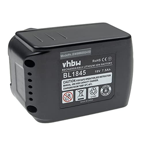 vhbw Batería recargable compatible con Makita BFS450F, BFS450RFE, BFS450Z, BFS451RFE, BFS451Z herramientas eléctricas (7500 mAh Li-Ion 18 V)