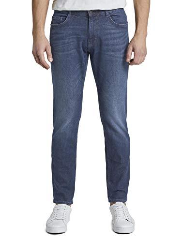 Tom Tailor 62047970910 - Jeans - Slim - Homme - Bleu (Mid Stone Wash Denim) - W40/L36 (Taille unique: 40)