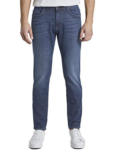 TOM TAILOR Herren Slim Jeanshose 1/1 Josh Regular, Blau (mid stone wash denim 1052) Gr. W34/L34 (Herstellergröße: 34)