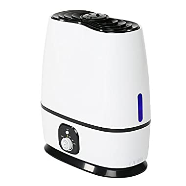 Everlasting Comfort Ultrasonic Humidifier (6L) - Essential Oil Tray, High Mist Output, Adjustable Knob and 360 Deg. Nozzles. Ultra Quiet, Auto Shut Off, Night Light, Large Capacity Vaporizer