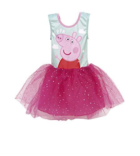 Pepa Pig Vestido para Niñas, Falda Tul Tutú Ballet Brillan