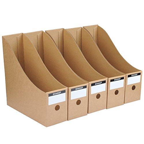 """""""N/A"""" 5 Stück Stehsammler, Zeitschriftenbox aus Wellpappe, Stehordner Archiv-Stehsammler, recycelter Karton für Kataloge und Zeitschriften"""