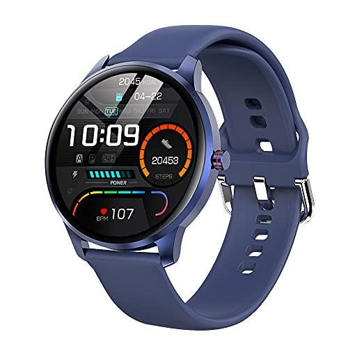 LEMFO Smartwatch für Damen Herren, IP68 Wasserdicht Sportuhr Fitness Tracker mit Blutdruckmessung, Fitnessuhr Herren mit Schrittzähler Pulsuhr Schlafmonitor for Android Ios