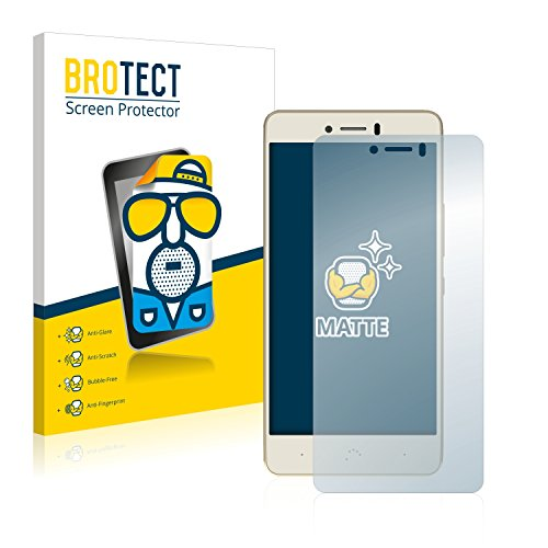 BROTECT 2X Entspiegelungs-Schutzfolie kompatibel mit BQ Aquaris U Plus Bildschirmschutz-Folie Matt, Anti-Reflex, Anti-Fingerprint