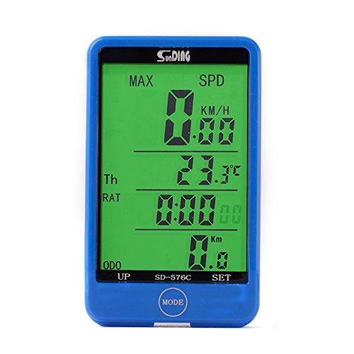 XCSOURCE® SUNDING Computadora de Ciclo Inalámbrico Digital LCD Backlight Odómetro Velocímetro para Bicicleta Ciclismo MTB CS246