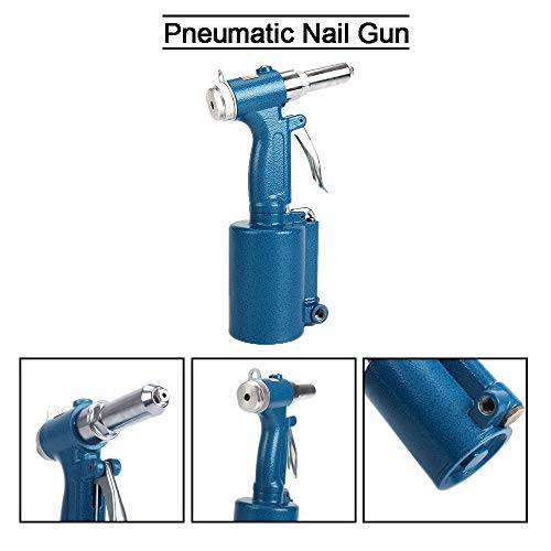 SI FANG Air hidráulico Pro remachadora de pistola pop, kit de herramientas de mano profesional 3/32', 1/8', 5/32', 3/16' y 1/4'