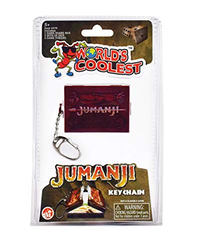 World's Coolest Miniature Jumanji Board Game Keychain - Accurate Novelty Film Replica Contains Magnetic Pieces and Dice, SI579