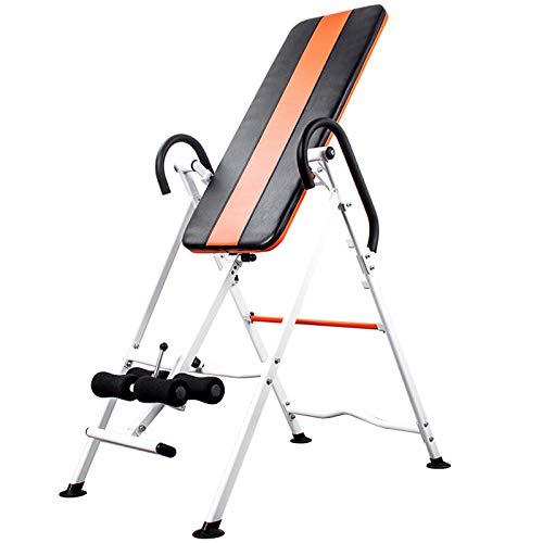 LWH Inversionsbank,Inversionswinkel klappbarer Schwerkrafttrainer Inversion Table Rücktrainer verstellbar 0-180° Nutzergewicht bis 110 kg,Köpergröße 116X70X153CM