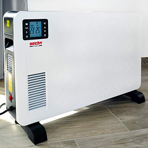 Hecht Elektroheizung (Brandneue Version 2020) - Heizgerät für eine schnelle und wohlfühlende Wärme – Stromsparend - Mit 3 Leistungsstufen, Fernbedienung und Thermostat