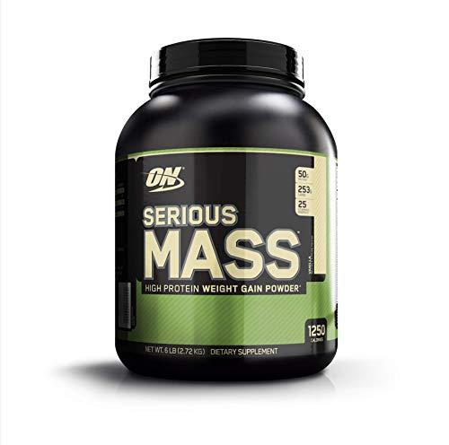 Optimum Nutrition Serious Mass, Con proteine whey in Polvere per Aumentare la Massa Muscolare, Vaniglia, 2.72 kg, 8 Porzioni