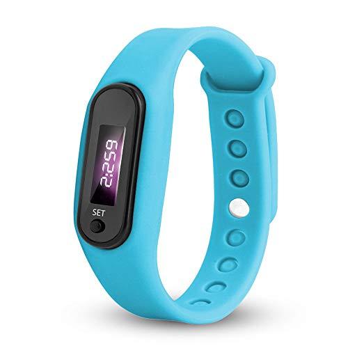 BBestseller Relojes Deportivo Infantil electrónico-Estudiantes Podómetro Reloj de con Pantalla Digital LED Inteligente Pulsera Cronómetro (Azul 1)