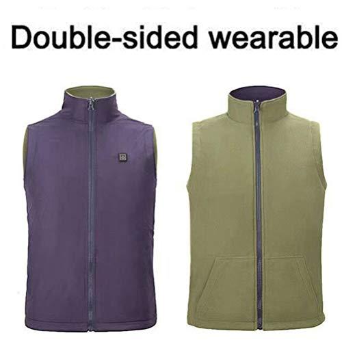 Dubbelzijdige verwarming wintervest mannen en vrouwen verwarming vesten om warm te houden in de winter maten S-4XL)