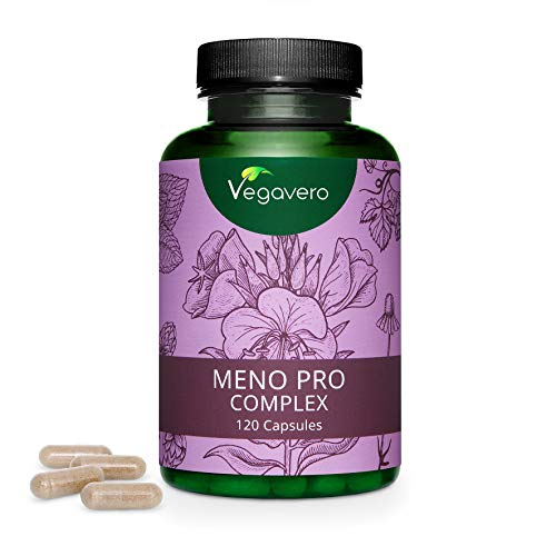 WECHSELJAHRE Complex Vegavero® | 120 Kapseln | 100% NATÜRLICH & HORMONFREI | Nachtkerze, Hopfen, Salbei, Kamille, Melisse | für die MENOPAUSE | Vegan