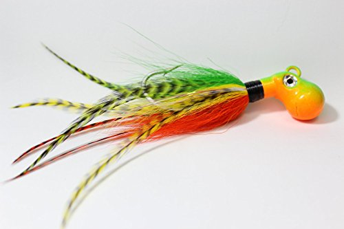 Haggerty Lures Octopus Bucktail Jig- Cobia- Firetiger -Saltwater Lure (2 oz)