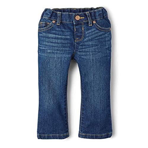 The Children's Place Baby Girls Bootcut Jeans, Indgostone 2210, 18