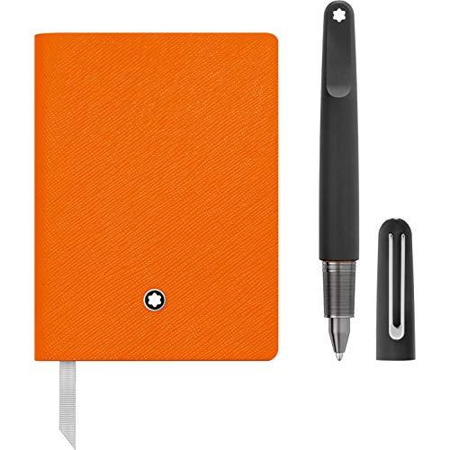 Montblanc 117085Set con MontBlanc M Ultra negro bolígrafo y portátil # 145Lucky, color naranja...