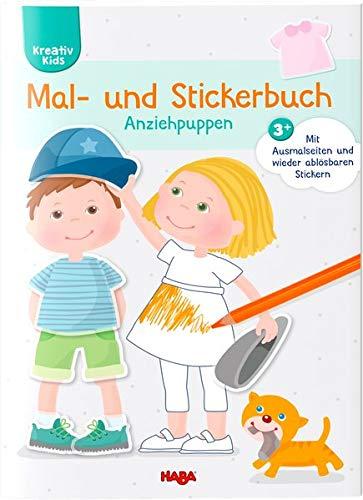 Mal- und Stickerbuch Anziehpuppen (Kreativ Kids)