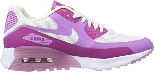 Nike Damen WMNS Air Max 90 Ultra Breathe Sneakers, Weiß (White/Fuchsia), 38.5 EU