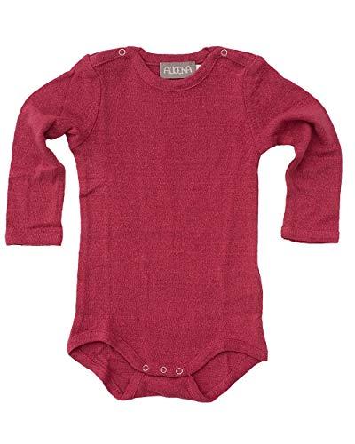 Unbekannt Alkena, Baby Body Langarm mit Schulterknöpfen, 100% Bouretteseide (56/62, Beere)