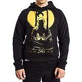 Wu Wear Hoodie Wu Monk Hooded, Wu Tang Clan Urban Streetwear Fashion Pulli, Hip Hop, Herren, schwarz Größe 3XL, Farbe Black