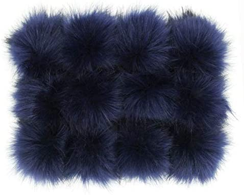 Furling Pompoms DIY 12pcs Faux Fox Fur Fluffy Pompom Ball for Beanie Hats Shoes Scarves Keychain product image